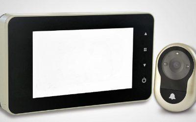 Mirilla electrónica con timbre y alarma